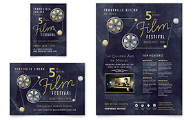 Film Festival Ad - Word Template & Publisher Template