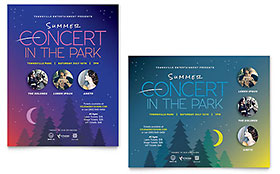 Summer Concert Poster - Word Template & Publisher Template