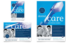 Dentist Office Flyer & Ad - Microsoft Office Template