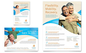 Physical Therapist Flyer & Ad - Microsoft Office Template