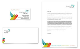 Pediatrician & Child Care Business Card & Letterhead - Microsoft Office Template