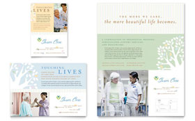 Elder Care & Nursing Home Flyer & Ad - Microsoft Office Template