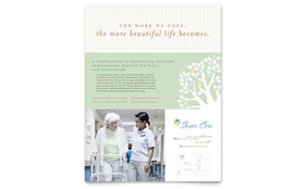 Elder Care & Nursing Home Flyer - Word Template & Publisher Template