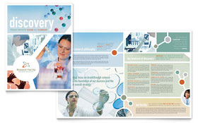 Medical Research Brochure - Word Template & Publisher Template