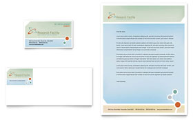 Medical Research Business Card & Letterhead - Word & Publisher Template