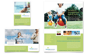 Healthcare Management Flyer - Word Template & Publisher Template