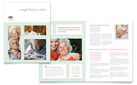 Senior Care Services Brochure - Microsoft Office Template