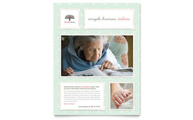 Senior Care Services Flyer - Microsoft Office Template