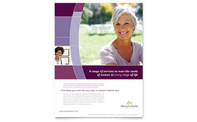 Women's Health Clinic Flyer - Word Template & Publisher Template