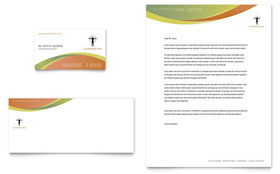 Massage & Chiropractic Letterhead - Word Template & Publisher Template
