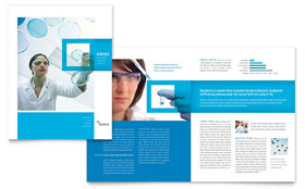 Science & Chemistry Brochure - Word Template & Publisher Template