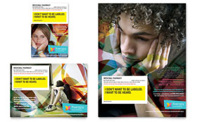 Adolescent Counseling Flyer & Ad - Word Template & Publisher Template