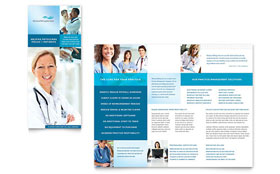 Medical Billing & Coding Tri Fold Brochure - Microsoft Office Template