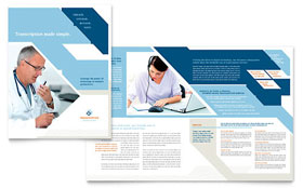 Medical Transcription Brochure - Word Template & Publisher Template