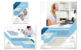Medical Transcription Flyer & Ad - Microsoft Office Template