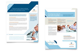 Medical Transcription Datasheet - Word Template & Publisher Template