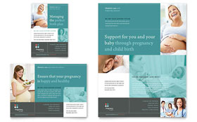 Pregnancy Clinic Flyer & Ad - Microsoft Office Template