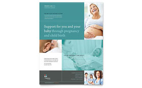 Pregnancy Clinic Flyer - Microsoft Office Template