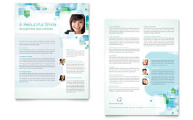 Orthodontist Datasheet - Word Template & Publisher Template