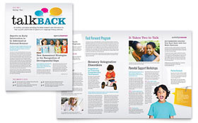 Speech Therapy Newsletter - Word Template & Publisher Template