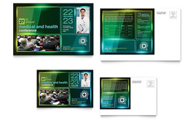 Medical Conference Postcard - Microsoft Office Template
