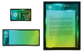 Medical Conference Business Card & Letterhead - Microsoft Office Template