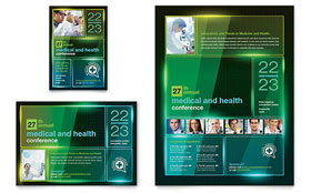 Medical Conference Flyer & Ad - Microsoft Office Template
