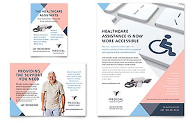 Home Medical Equipment Flyer & Ad - Microsoft Office Template