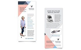 Home Medical Equipment Rack Card - Word Template & Publisher Template