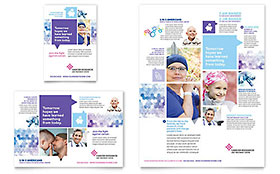 Cancer Treatment Ad - Word Template & Publisher Template