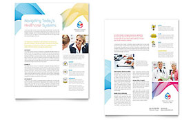 Insurance Consulting Datasheet - Word Template & Publisher Template
