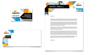Logistics & Warehousing Letterhead - Word Template & Publisher Template