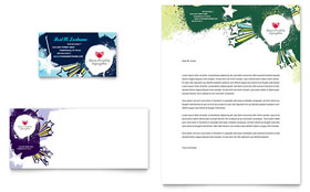 Child Advocates Business Card & Letterhead - Microsoft Office Template