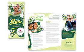Child Advocates Tri Fold Brochure - Word Template & Publisher Template