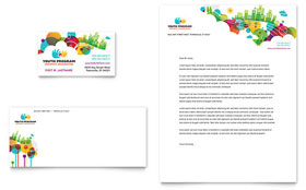 Youth Program Business Card & Letterhead - Microsoft Office Template