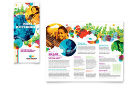 Youth Program Tri Fold Brochure - Word Template & Publisher Template