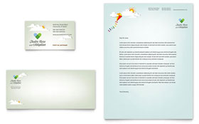 Foster Care & Adoption Business Card & Letterhead - Microsoft Office Template