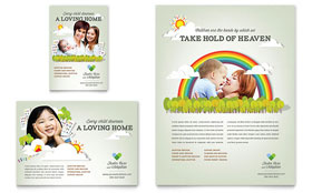 Foster Care & Adoption Flyer & Ad - Word Template & Publisher Template