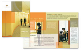 HR Consulting Brochure - Microsoft Office Template