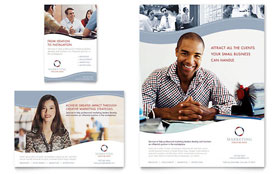Marketing Consulting Group Flyer - Word Template & Publisher Template