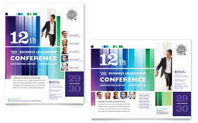 Business Leadership Conference Poster - Microsoft Office Template