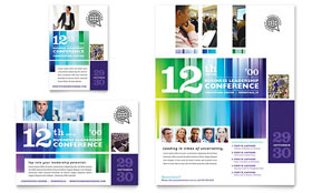 Business Leadership Conference Flyer & Ad - Word Template & Publisher Template