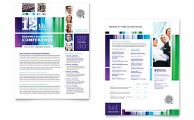 Business Leadership Conference Datasheet - Word Template & Publisher Template