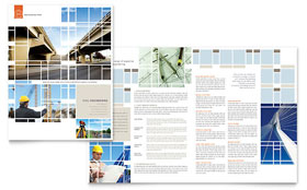 Civil Engineers Brochure - Word Template & Publisher Template