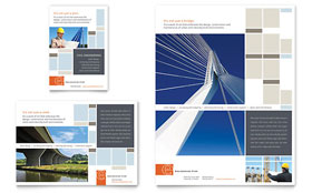 Civil Engineers Flyer & Ad - Word Template & Publisher Template