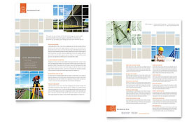 Civil Engineers Datasheet - Word Template & Publisher Template