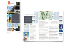 Civil Engineers Tri Fold Brochure Template