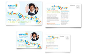 Job Expo & Career Fair Postcard - Microsoft Office Template