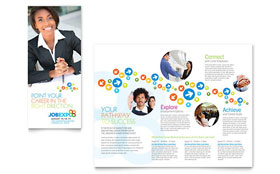 Job Expo & Career Fair Tri Fold Brochure - Word Template & Publisher Template
