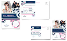 Marketing Agency Postcard - Word & Publisher Template